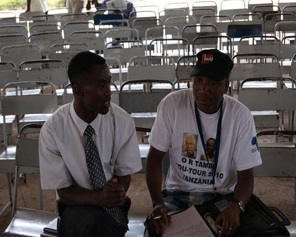 Mandla and the SUA President of Students Representative Body!