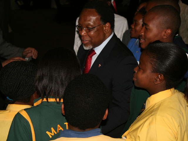 Deputy president with youth